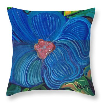 Throw Pillow featuring the painting Blue Blilliance by John Keaton