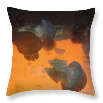 Blue Blubber Jellyfish Throw Pillow