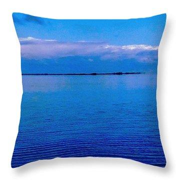 Blue Blue Sea Throw Pillow by Vicky Tarcau
