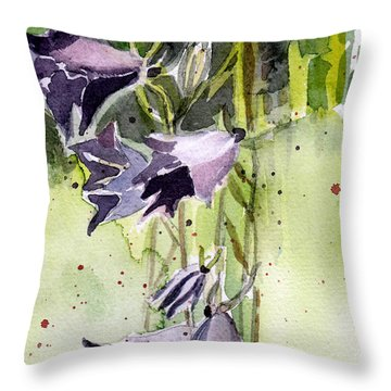 Blue Bonnets Throw Pillow by Mindy Newman