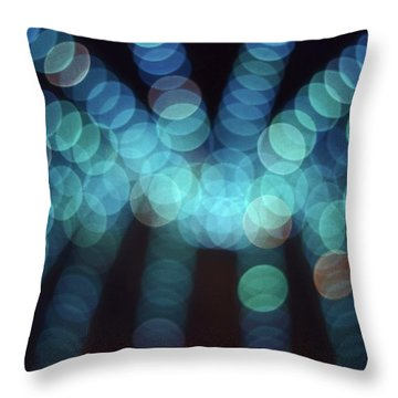 Blue Boogie Throw Pillow by Laurie Stewart