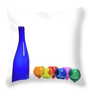 Blue Bottle #2429 Throw Pillow