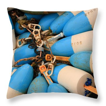 Blue Bouys Throw Pillow