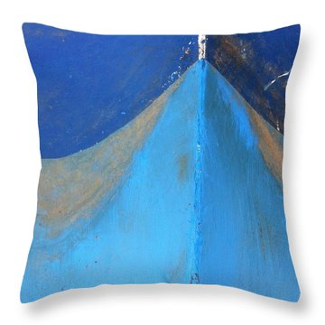 Blue Bow Throw Pillow