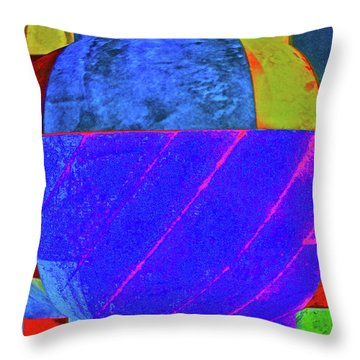 Blue Bowl Throw Pillow by Bruce Iorio