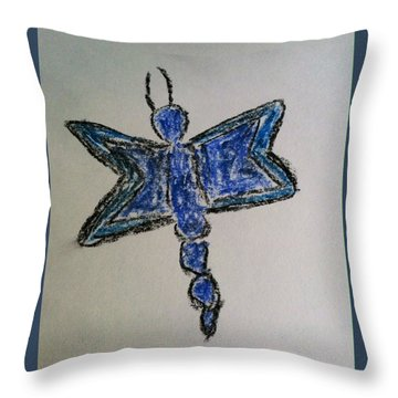 Blue Butterfly Throw Pillow by Alohi Fujimoto
