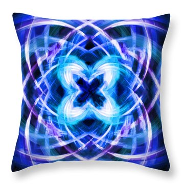 Blue Butterfly Throw Pillow