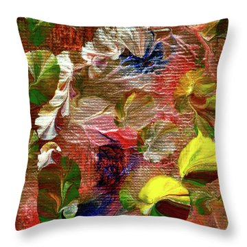 Blue Butterfly Jungle Throw Pillow