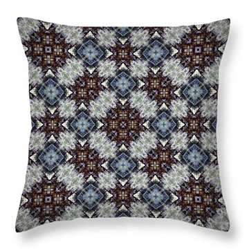 British Blues Throw Pillow