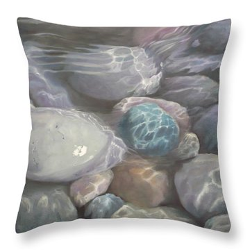 Blue Calm Throw Pillow