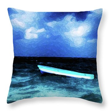 Blue Cancun Throw Pillow