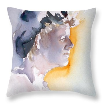 Blue Cap Throw Pillow