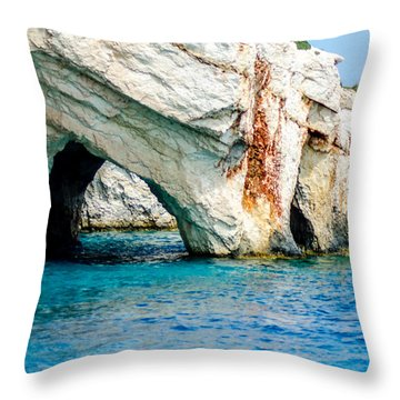 Blue Cave 4 Throw Pillow by Rainer Kersten