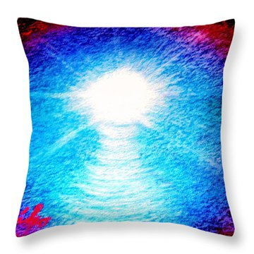 Blue Cave Throw Pillow