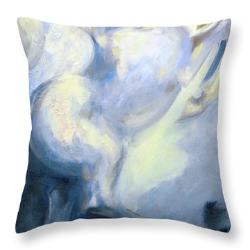 Blue Circus Pony 1 Throw Pillow