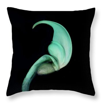 Blue Claw Throw Pillow