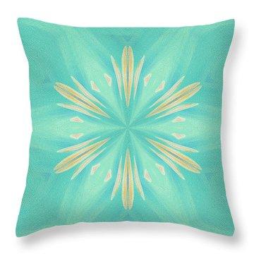 Throw Pillow featuring the digital art Blue Coffee by Elizabeth Lock