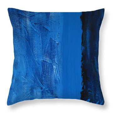 Throw Pillow featuring the painting Blue Collar by Rick Baldwin