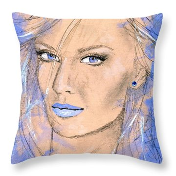 Blue Confidance Throw Pillow