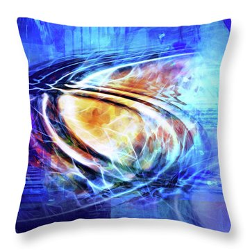 Blue Connexion Throw Pillow