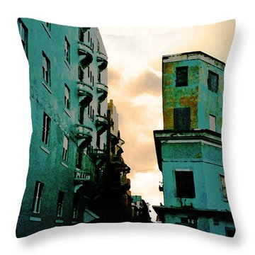 Blue Corner Throw Pillow