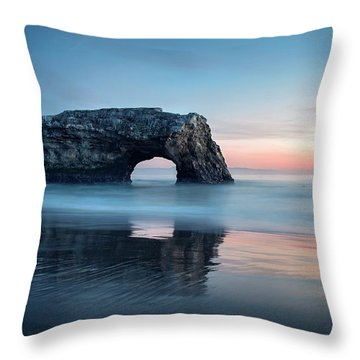 Throw Pillow featuring the photograph Blue Cotton Candy At Dusk by Quality HDR Photography