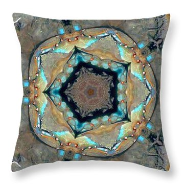 Throw Pillow featuring the photograph Blue Crab Kaleidoscope by Bill Barber