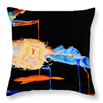 Blue Crab Two Throw Pillow