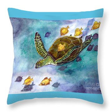 Blue Crush Throw Pillow