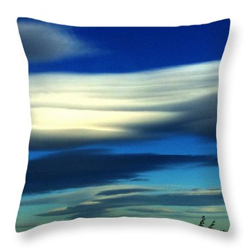Blue Day Spain  Throw Pillow by Colette V Hera Guggenheim
