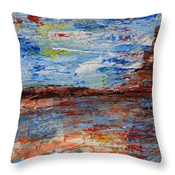 Blue Desert Throw Pillow