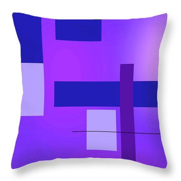 Blue Design 2 Vertical  Throw Pillow
