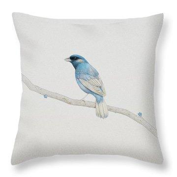 Blue Throw Pillow by Diego Fernandez