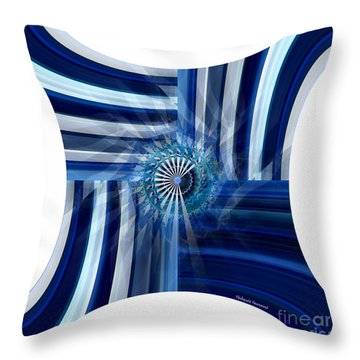 Blue Dimension  Throw Pillow