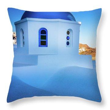 Blue Domed Chapel Throw Pillow