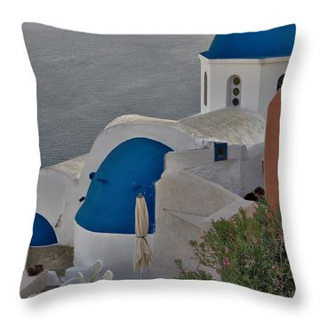 Blue Domes Throw Pillow
