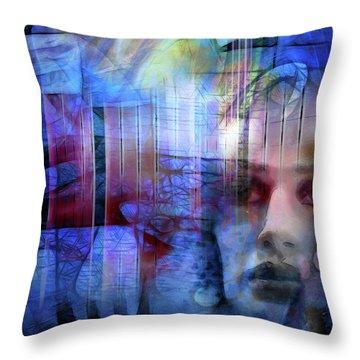 Blue Drama Vision Throw Pillow