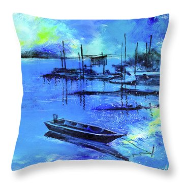 Blue Dream 2 Throw Pillow