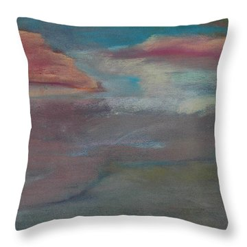 Blue Dune Throw Pillow
