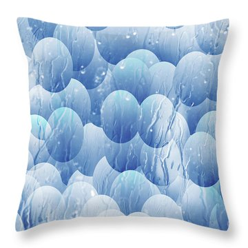 Throw Pillow featuring the photograph Blue Eggs - Abstract Background by Michal Boubin