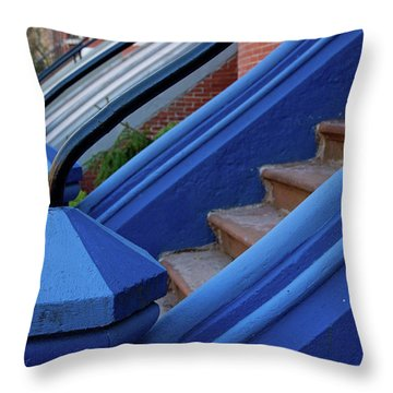 Blue Entry Throw Pillow