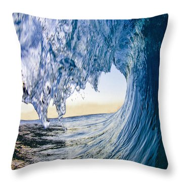 Blue Envelope - Vertical Throw Pillow