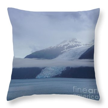 Blue Escape In Alaska Throw Pillow