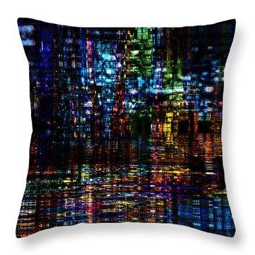 Blue Evening Throw Pillow