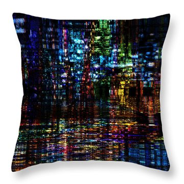 Blue Evening Throw Pillow