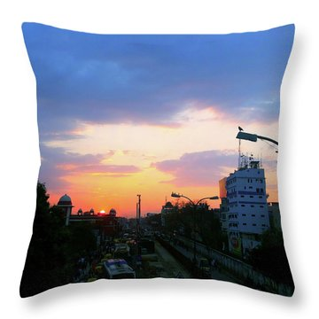 Blue Evening Sky Throw Pillow