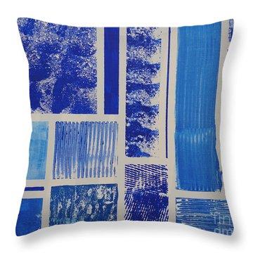 Blue Expo Throw Pillow
