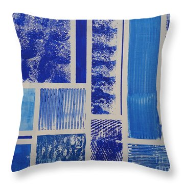 Blue Expo Throw Pillow