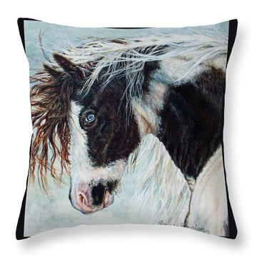 Blue Eyed Storm Throw Pillow