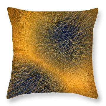 Blue Eyes Throw Pillow by Constance Krejci